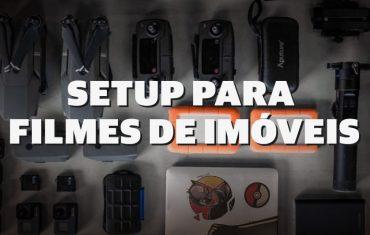 Setup de equipamentos para vídeos e fotos de Imóveis